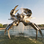 Crab made by Ellett Industries and photographed by thousands can be found at the Vancouver Planetarium