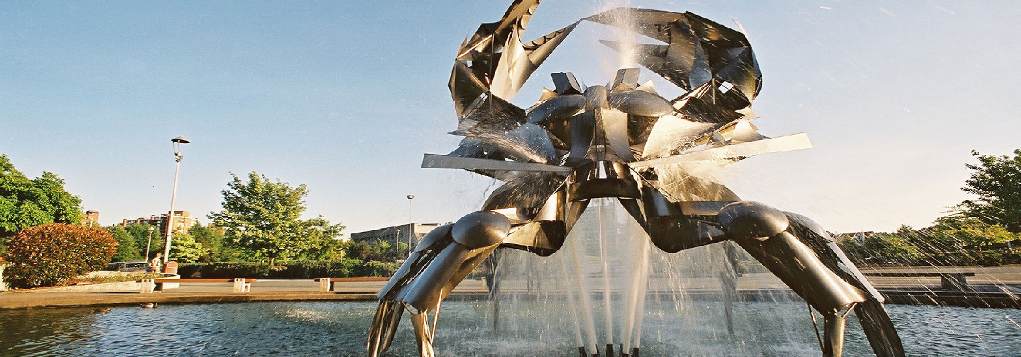 Photographed by thousands, this Stainless Steel Crab can be found at the Vancouver Planetarium.