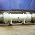 Zirconium shell and tube heat exchanger fabricated by Ellett Industries