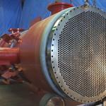 Zirconium shell and tube heat exchanger