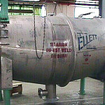 Titanium filter fabricated by Ellett Industries