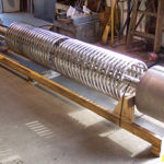 Titanium coil for a shell and tube heat exchanger fabricated by Ellett Industries