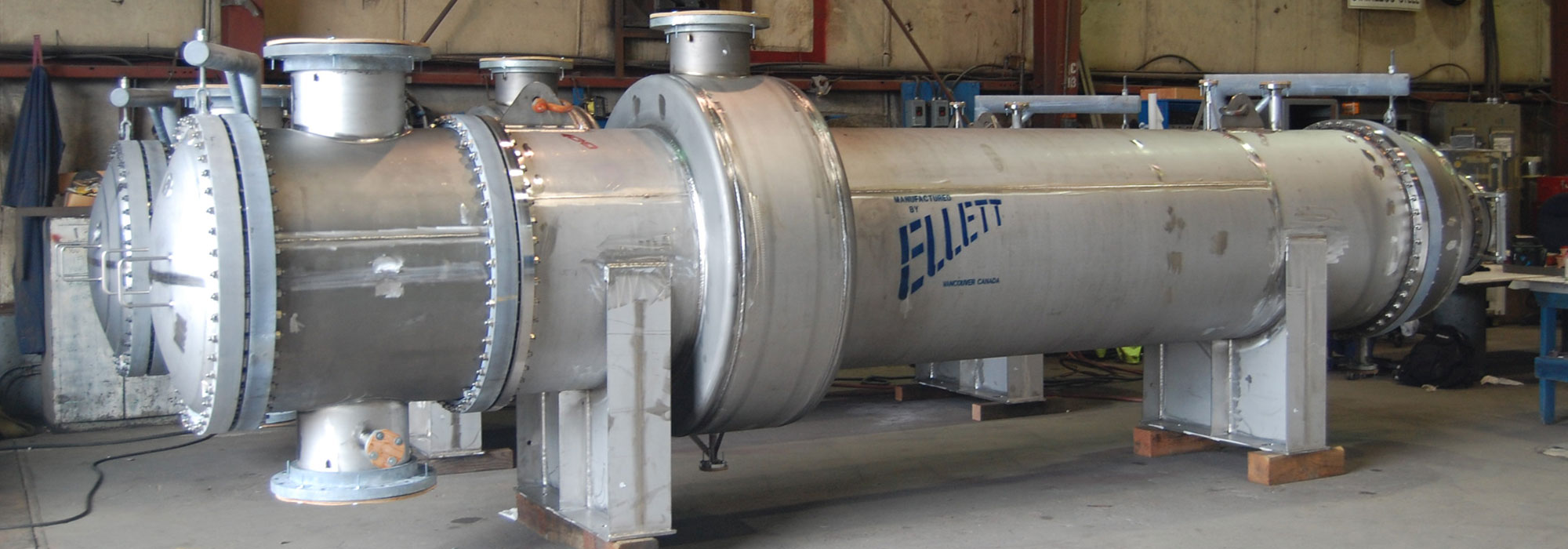 cooler condenser fabricated by Ellett Industries